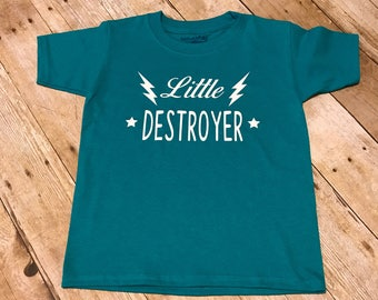 Little Destroyer Kids T-Shirt, Funny Child Shirt, Custom Child T-shirt