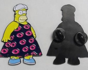 Phish Pin, Fishman Dress Pin, Fishman Donut Pin, Fishman Donuts, Pin for hat, enamel pin, Fat Homer Pin, Fat Homer fishman dress pin