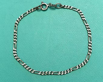 Vintage Mexico 925 Sterling Silver Chain Bracelet