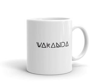 Wakanda Coffee Mug. White Ceramic Wakanda Tea Cup.