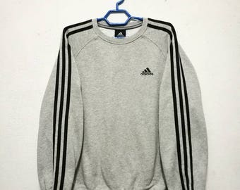 Vintage Adidas 3 Stripes Stripe Sweater Sweatshirt