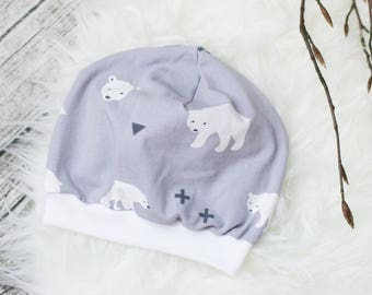 Baby Beanie Hat * polar bears *.
