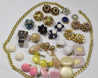 Vintage Lot of clip on earrings handcrafted