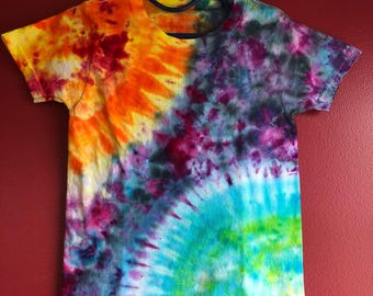 Sun and Earth Celestial (Ice Dyed) Tie Dye T-Shirt Kids 2T-3T