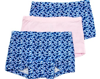 Toddler & Young Girls Boxer Briefs Organic Cotton 6 - Pack