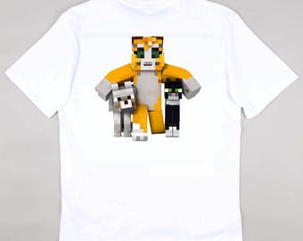 Stampy Cat, Barnaby and Mittens Stampylongnose Childrens Kids Tshirt YouTube Fan  - Free Personalisation