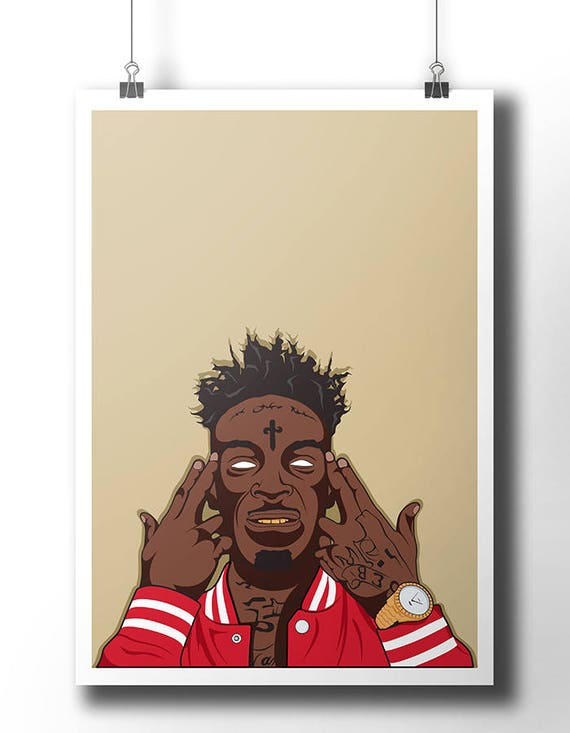 21 savage poster wall art wall decor rap poster hip for Decoration murale 1 wall