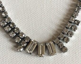 sparkling vintage paste necklace. Wedding. Bridal. Brides. Bridesmaids.