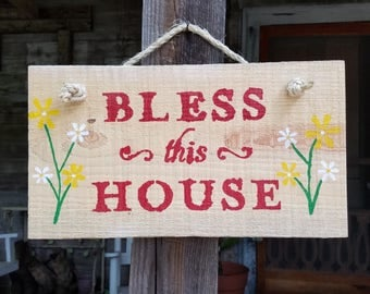 Bless This House Barn Wood Sign