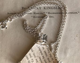 Triangle Book Page Necklace