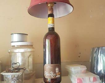 wine lamp hand made