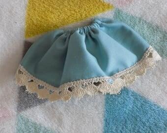 Light blue elastic skirt waist pullip