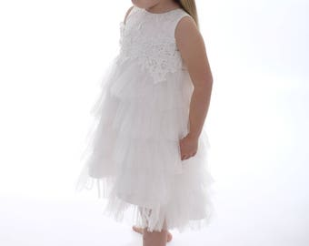 "Beautiful ""Sophia"" dress perfect for a flower girl or Christening/Hi-Low dress/baby dress/Girls dress/ kids clothes/baptism/wedding/bridal"