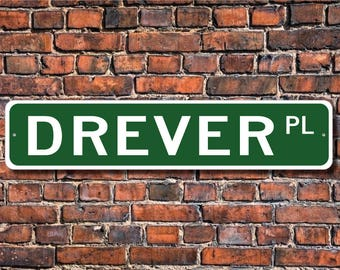 Drever, Drever Lover, Drever Sign, Custom Street Sign, Quality Metal Sign, Dog Owner Gift, Dog lover, Dog sign, Dog lover gift,