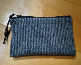 wool coin purse, golf tee pouch, washable felted wool