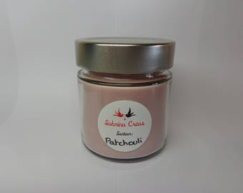 Vegetable soy wax scented candle Patchouli.
