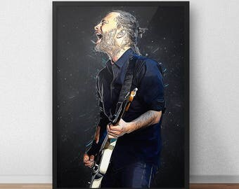Radiohead - Radiohead Poster - Thom Yorke - Thom Yorke Poster - Rock Poster - Rock Art - Music Art - Music Gifts - Rock And Roll