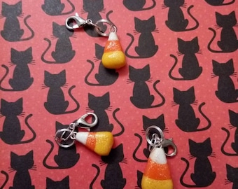 Sparkly Candy Corn Charm