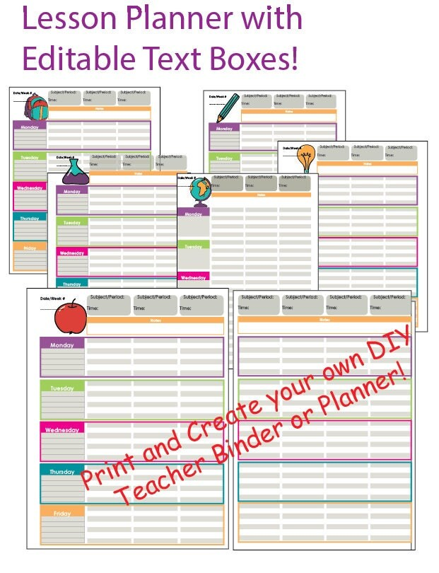 It is a photo of Hilaire Free Printable Teacher Planner Pdf