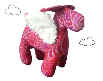 Art Toy Sculpture textile House dog Angel