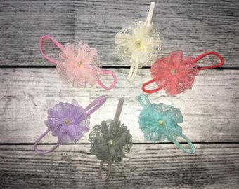 Lace Ruffle headband