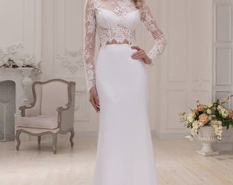 Two pieces wedding dress wedding dresses wedding dress CINDY
