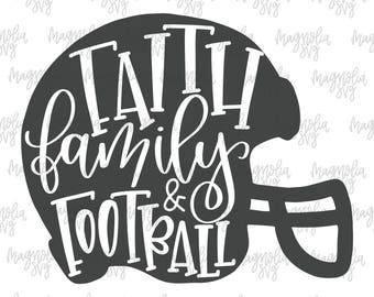 Faith, Family, Football svg, Football Helmet svg, Football Team svg, Football Shirt for Women svg, Football Shirt svg, Girl Football Shirt