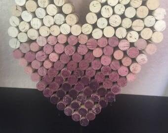 Heart, Wine Cork Art