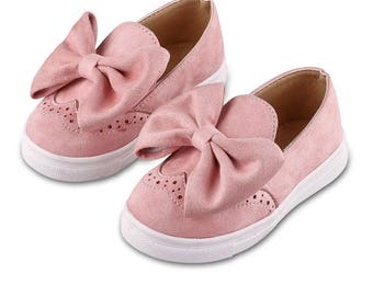 Pink Bow brogues
