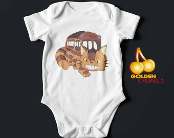 Totoro Onesie Cat Bus/ Romper / Bodysuit/ T-shirt Gift Idea