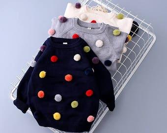 Pom Pom Kid Sweater