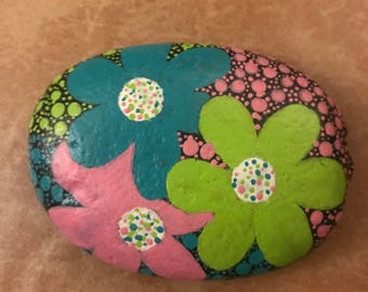 Floral Painted Stone