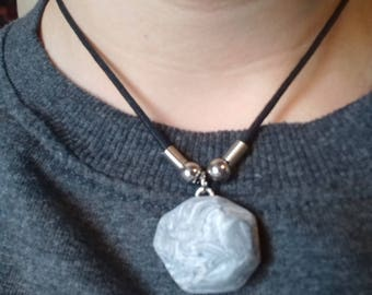 marble necklace with stone effect