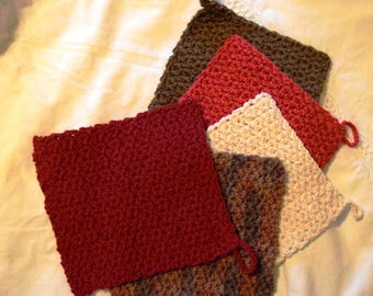 Thanksgiving/Harvest Colors Dishcloth Set