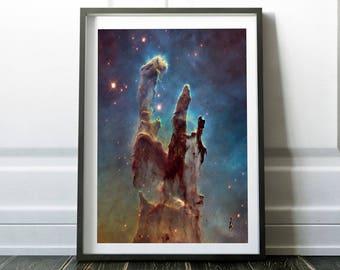 Nebula print / Space poster / Space art print / Nasa poster / Universe art / Outer space print / Space decor / Hubble telescope / Space art