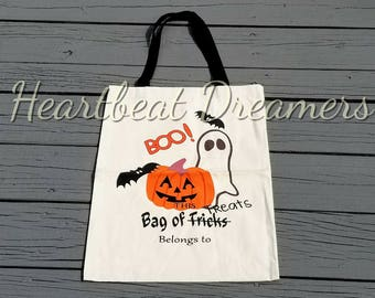 Candy Bag Tote, Trick-Or-Treat, Trick-Or-Treat Bag, Trick-Or-Treat Bags, Halloween ghost bag, Baby Halloween Bag, Trick-Or-Treat Totes, Kids