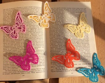 Felt bookmark/heart and butterfly/ personalize/ segnalibro in feltro