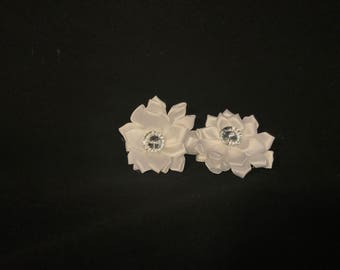 Girls Handmade Hair Clips (Flowers)