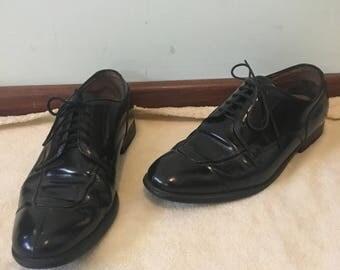 Vintage Regal Black Patent Leather Shoe Mens Size 9.5-10.5