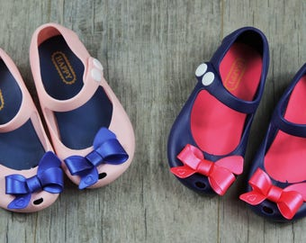 Mini Melissa Inspired Pink or Blue Mary Jane Shoe