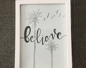 Believe Wish Wall Art Quote