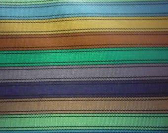 Vintage Striped Rayon Fabric