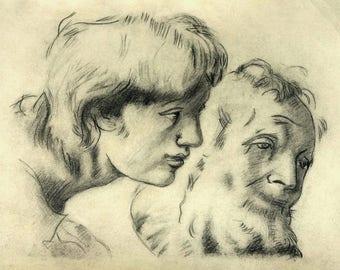 Raphael drawing , Raphael copy , Raphael reproduction , Raphael pencil drawing , Pencil copy ,Famous drawing , Renaissance drawing , Pencil