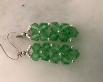 Rock Candy Pendant Earrings in Light Green