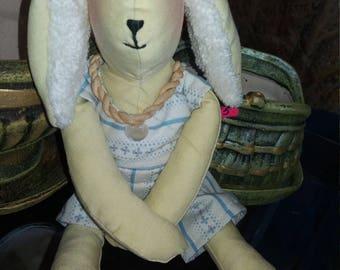 Handmade Toy Teddy Bunny.