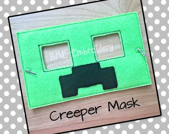 Creeper Inspired Felt Mask- Child's Dress Up Imaginary Play- Birthday Party Favor-Photo Shoot-Pretend Play-Theme Party