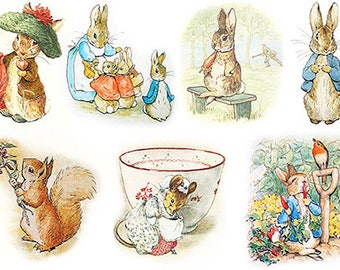 Decoupage paper, paper for decoupage, decorative paper, paper A4, Peter Rabbit, animal arts