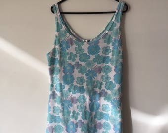 White and Blue Floral Summer Dress