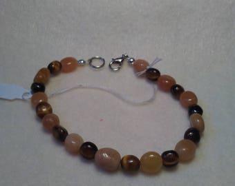 Tiger's Eye and Carnelian Beaded bracelet