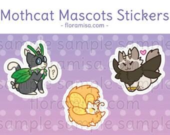 Mothcats Mascots Sticker Set (UNCUT)
